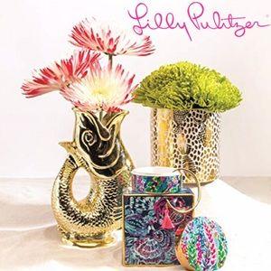 Lilly Pulitzer Golden Fish Decorative Vase